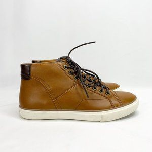 COACH Pete Soft Port Leather Sneaker 9 M Brown NEW
